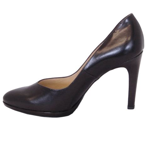kaiser herdi black leather court shoes mozimo