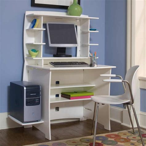 Multi Pack Computer Small Modern Desk With Hutch White
