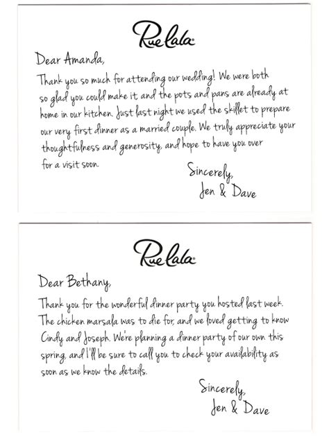 appreciation letter after a wedding classic courtesy the of the thank you note rue now