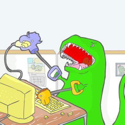 T Rex Meme Unstoppable - don t be a party pooper comic by calmblueoceans com