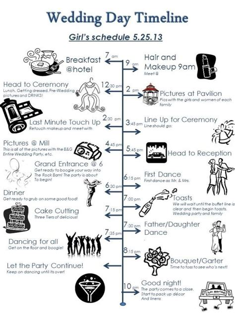 wedding ceremony timeline template 21 best planning tools images on pinterest weddings