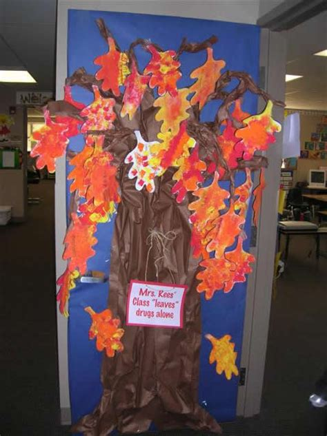 fall school door decorating ideas ribbon week on drugs door decorating and