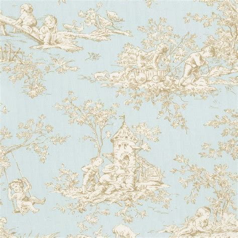 Blush Pink Comforter Baby Toile Horizon Fabric By The Yard Blue Fabric