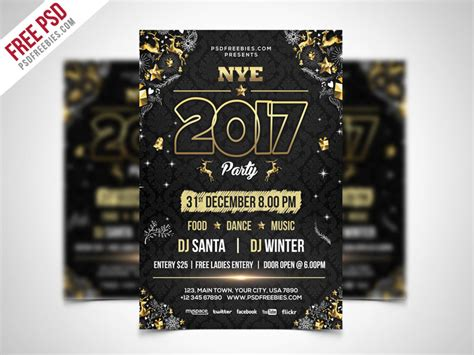 new year poster psd free psd new year flyer psd template by psd