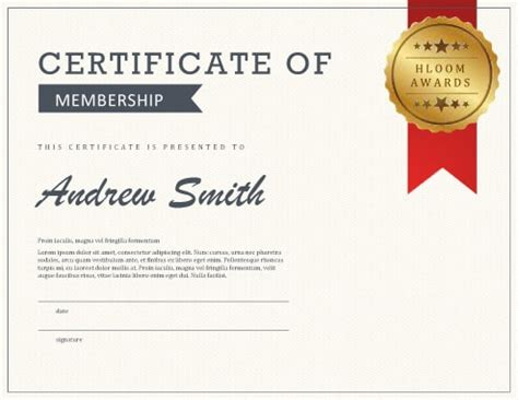 best membership certificate template images resume samples