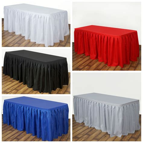 banquet table skirts 21 x 29 quot polyester banquet table skirt wedding