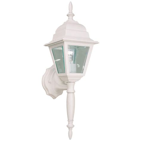white outdoor wall lantern hton bay white outdoor wall lantern hb7023p 06 the