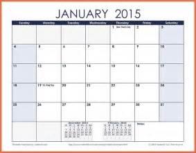 printable monthly calendar 2015 bio example