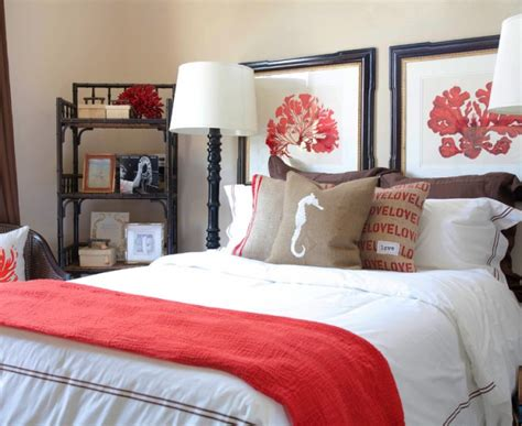 beige and coral bedroom splashy coral throw pillows look miami contemporary