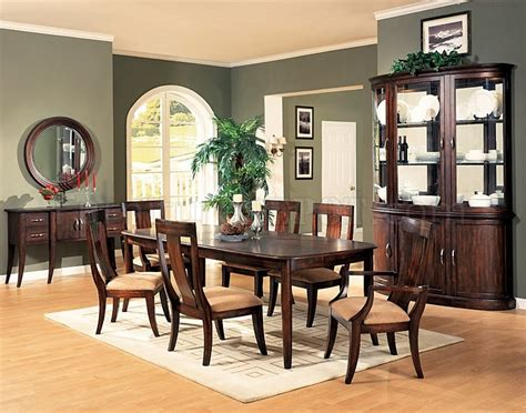Formal Cherry Dining Room Sets Distressed Cherry Formal Dining Room Set W Microfiber Seats