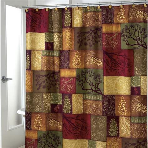 adirondack shower curtain adirondack pine shower curtain and bathroom accessories