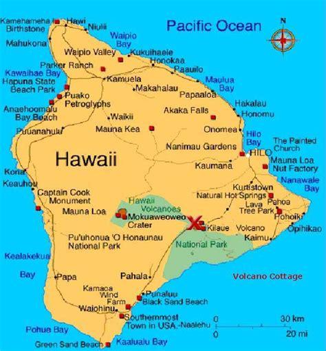 map of hawaiian islands and usa map of the big island big island hawaii
