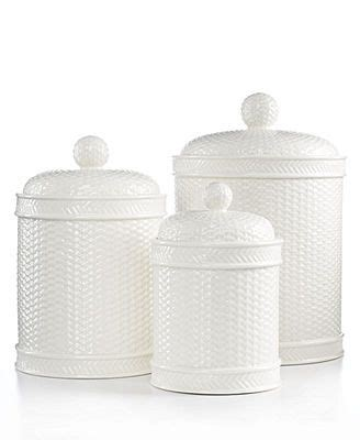 martha stewart collection canisters set of 3 whiteware