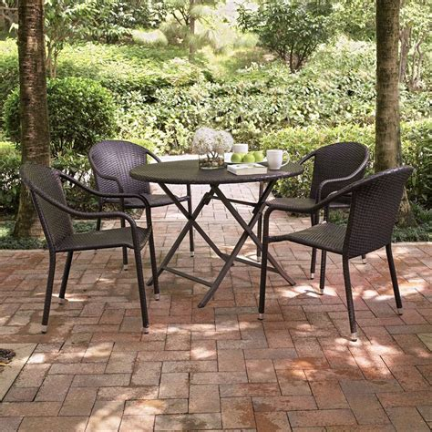 Shop Crosley Furniture Palm Harbor 5 Piece Dark Brown Brown Wicker Patio Furniture