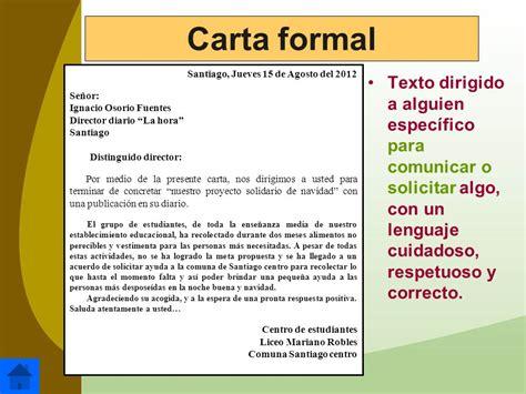 Comparacion Entre Carta Formal E Informal by Ejemplos De Cartas Y Partes De Una Carta