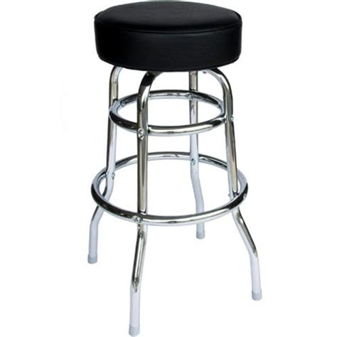 Bar Stool Commercial by Bfm Seating Galena Ring Chrome Backless Restaurant Bar Stool With Padded Seat Rbrf