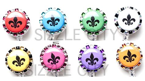 Tags Bling For Nerds by Sizzle City Custom Retractable Id Badge Reels Colored