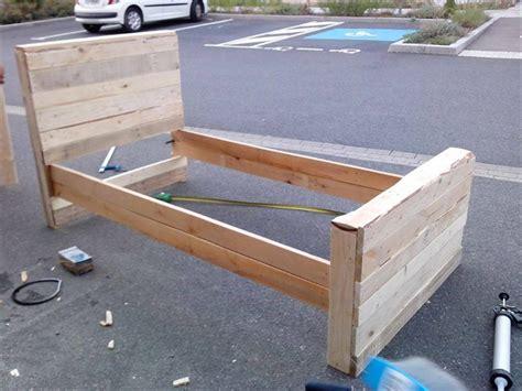 pallet bed frame plans bed frame from pallets pallet furniture plans