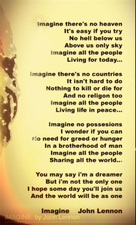 testo imagine best 25 imagine lennon lyrics ideas on