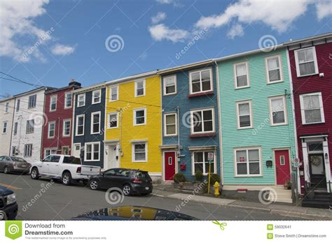 house plans nl colourful salt box homes in the quidi vidi district of st