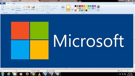 microsoft drawing how to draw microsoft logo in ms paint timelapse