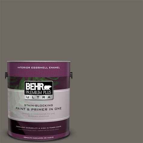 behr premium plus ultra 1 gal ppu24 04 burnished pewter eggshell enamel interior paint 275301