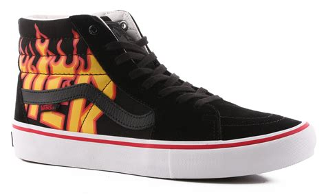 Vans Sk8 Hi 10 vans sk8 hi pro thrasher skate shoes thrasher black