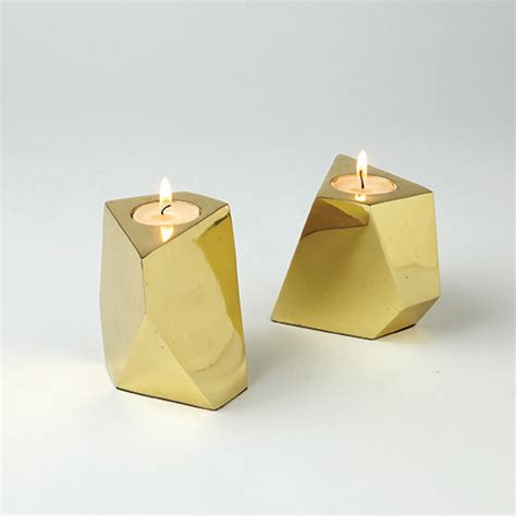 Contemporary Candle Holders Converge Brass Votives Contemporary Candleholders By