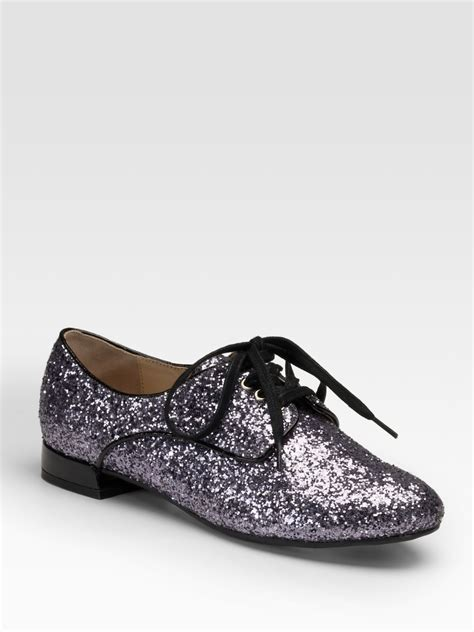 silver oxford shoes womens pour la victoire bling lace up glitter covered oxfords in