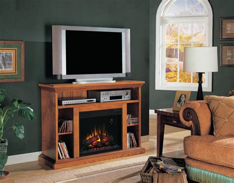 beverly electric fireplace tv stand in premium oak