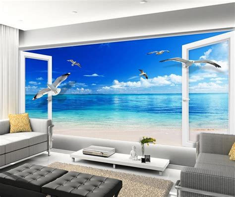 mural  wallpaper  wall papers  tv backdrop blue sky