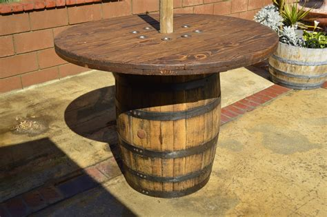 outdoor wine barrel table barrel bar table with hanging post king barrel