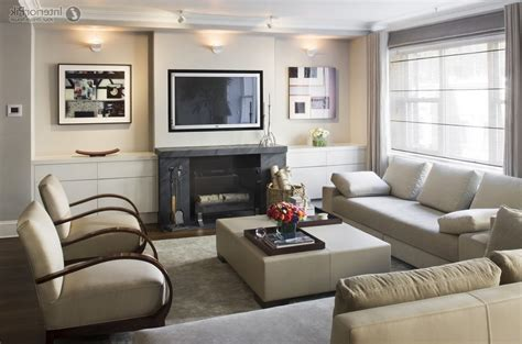 furniture layout for small living room with fireplace