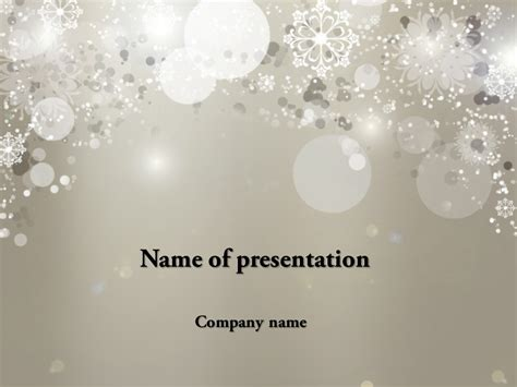 Free Cold Winter Powerpoint Template Background For Presentation Free Snowflake Powerpoint Template