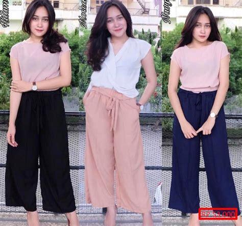 Celana Panjang Kerja Wanita Kulot Motif Bunga Jazz Pallazo Xl 20 model celana kulot tercantik modis dan simple model baru