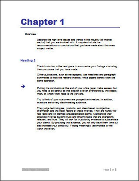 technical white paper template word white paper templates writing tips