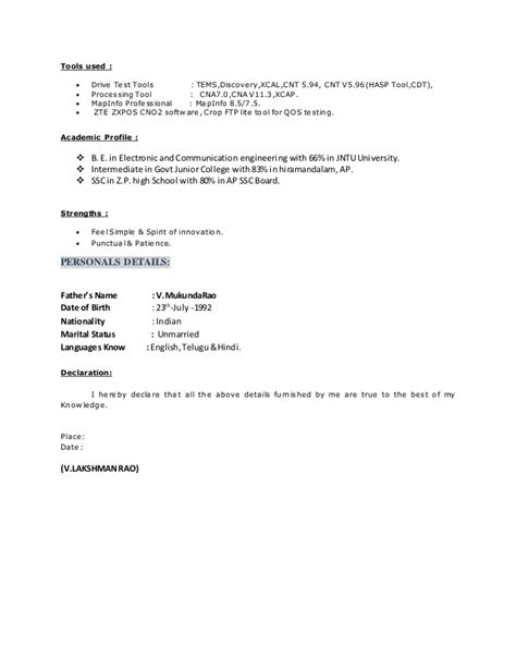Resume 3 Years Experience by Lakshman Resume 3 Years Experience