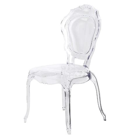 Design Acrylic Dining Chairs Ideas Acrylic Louis Style Dining Chair Clear