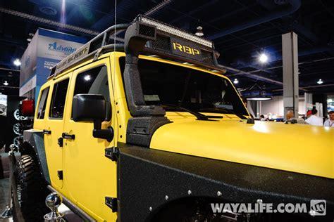 yellow jeep 4 door 2013 sema rbp yellow jeep jk wrangler 4 door