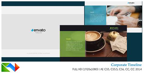sell after effects templates corporate timeline after effects template videohive