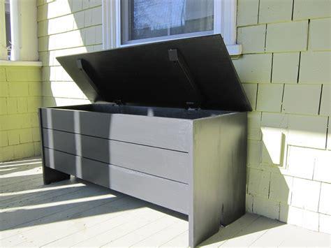 hand crafted outdoor storage bench  newton fine