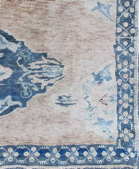 blue oushak rug turkish oushak rug with navy blue color for sale at 1stdibs