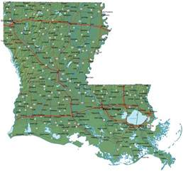 map louisiana detailed louisiana map la terrain map