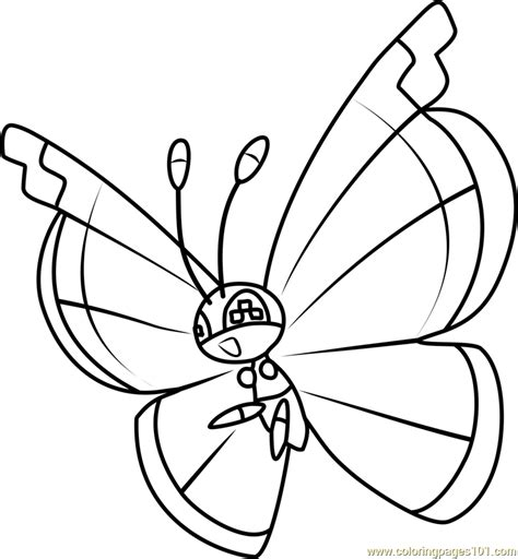 To Color vivillon coloring page free pok 233 mon coloring