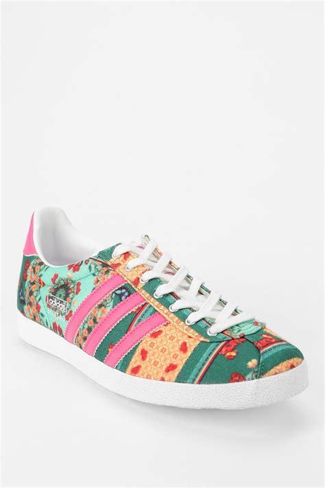 lyst adidas originals x the farm company gazelle floral farm sneaker