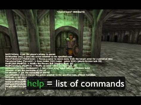 oblivion console codes oblivion best console command cheats all weapons armor