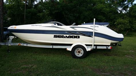 sea doo jet boat types sea doo challenger 2000 20 jet boat 2001 for sale for