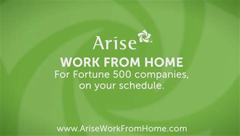 a work at home who owns own business arise work