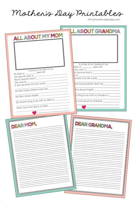 fun fill   blank mothers day printable mothersday event mothers day pinterest