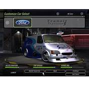 Need For Speed Underground 2 Cars By Ford  NFSCars